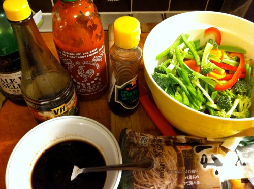 Drunken Soba Noodle Ingredients